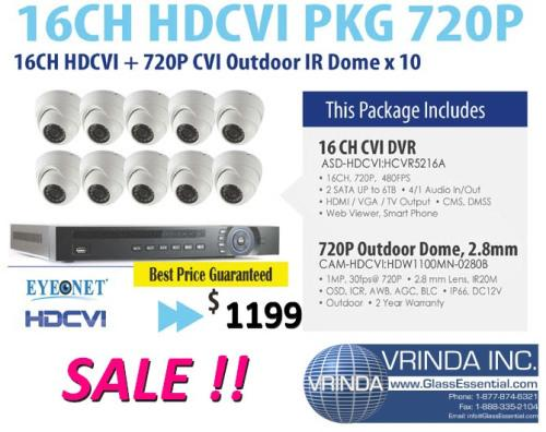 6 Ch HDCVI 700 P 10-Surveillance Camera Package[