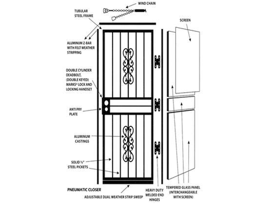 Decorative Storm Door-1