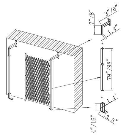Folding-Gate-Installation Angle Bracket