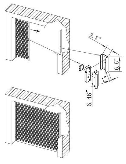 Folding-Gate-Installation Slam Push Lock