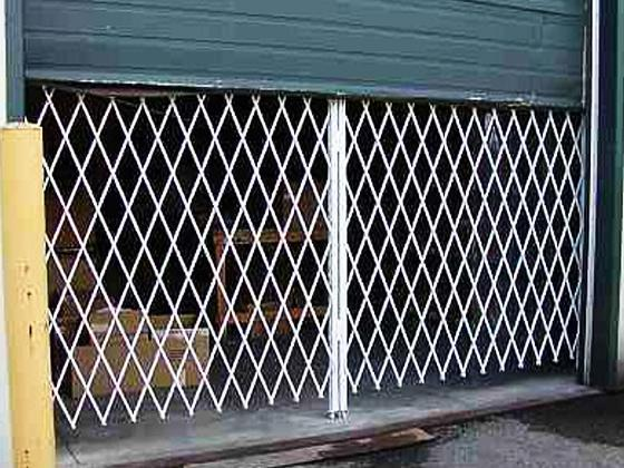 Folding Gate For Shipping Door Security