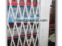 Folding gate for Security Enclosure-cigarette display cage-1