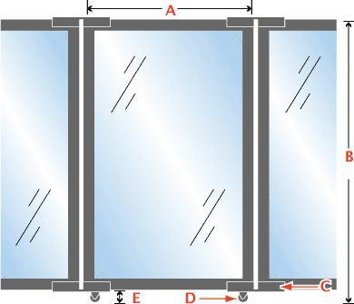 folding-access-control-barrier-partition-with-clear-polycarbonate