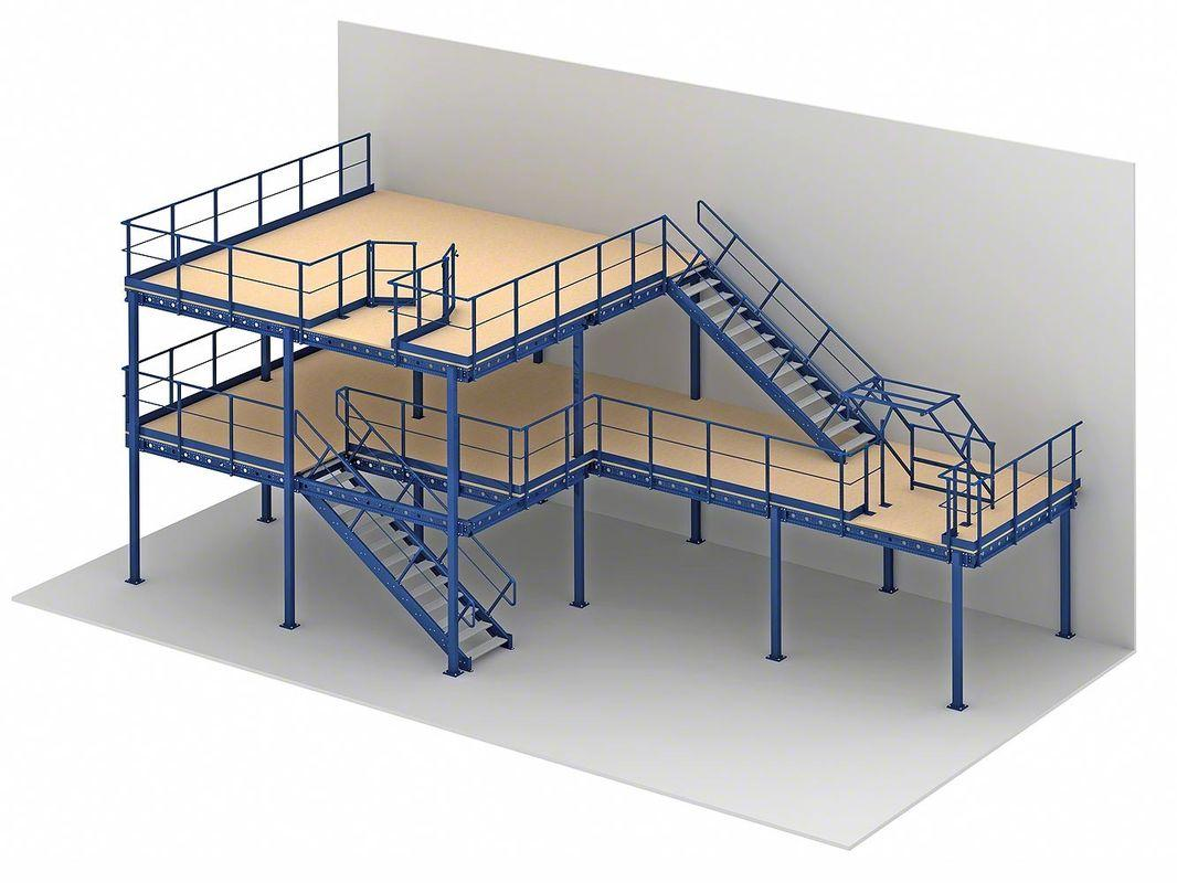 Raised Mezzanine Platform for Storage and Offices