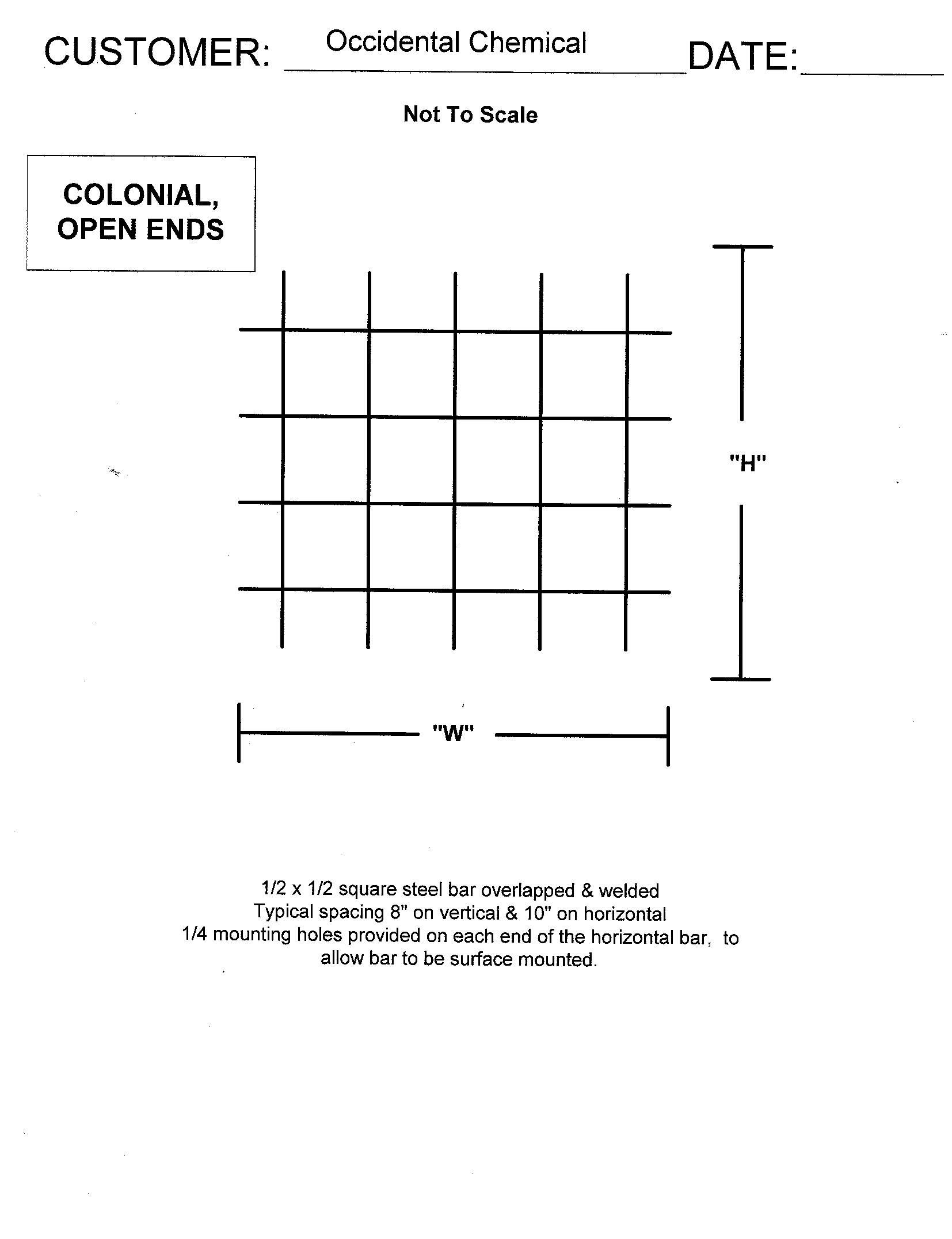 Decorative Window Security Bars Colonial Specifications