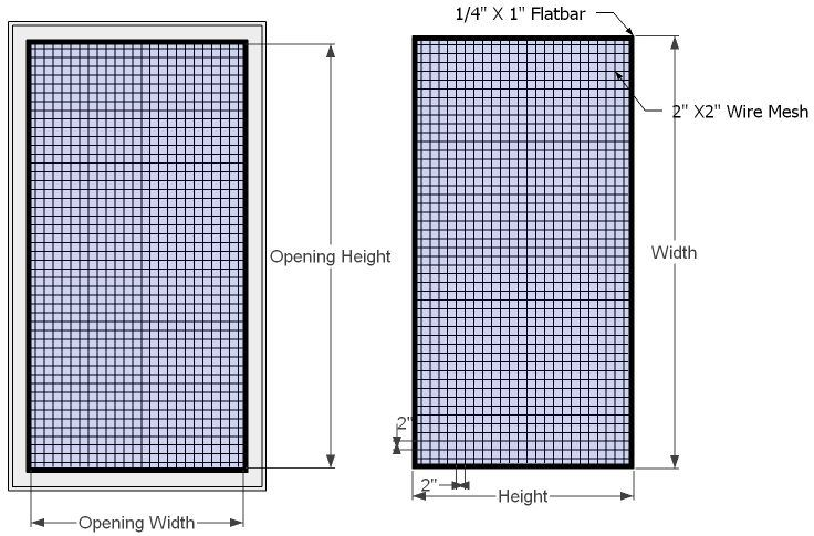 Wire Mesh Window Guard-1