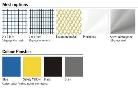 Wire Color and Mesh Size.