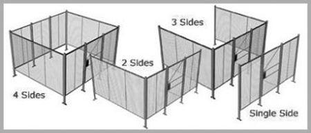 Wire Mesh Security Cage Configuration